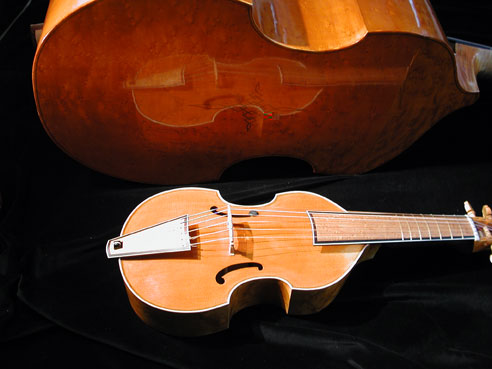 Bass and discant gamba by master violin builder H.-H.Uilderks