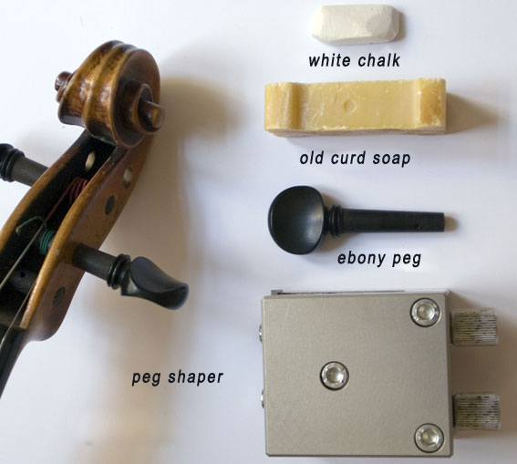 Tools for peg adjustment: Chalks, Soap and pegs